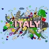 意大利线艺术设计传染媒介例证 免版税库存照片