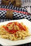 意大利细面条大比目鱼 免版税图库摄影