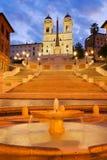 意大利罗马西班牙语步骤 库存图片