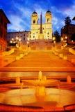 意大利罗马西班牙语步骤 免版税图库摄影