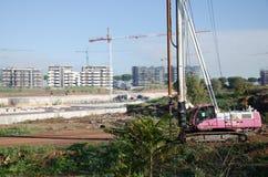 意大利罗马 2017年11月 在建造场所的维尔斯钻床 库存图片