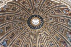 意大利罗马 2017年12月04日:天花板的片段在c的 库存图片