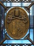 意大利罗马 2017年12月04日:梵蒂冈盾在梵蒂冈Mu 库存图片