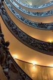 意大利罗马 2017年12月04日:螺旋形楼梯 免版税库存照片