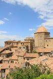 意大利老城镇volterra 库存照片