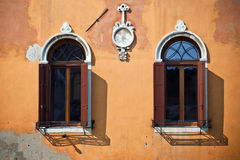 意大利老威尼斯视窗 库存照片