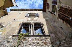 意大利老房子 免版税库存照片