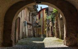 意大利老村庄 库存图片