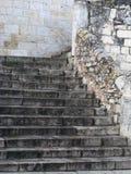 意大利老系列楼梯石头 免版税库存照片