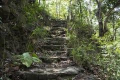 意大利老系列楼梯石头 免版税库存图片