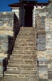 意大利老系列楼梯石头 图库摄影