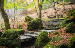 意大利老系列楼梯石头 库存照片
