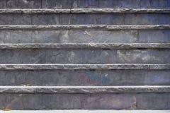 意大利老系列楼梯石头 免版税图库摄影