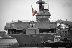 意大利航空母舰 免版税图库摄影