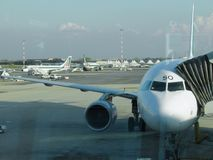 意大利航空飞机 库存图片