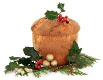 意大利节日糕点圣诞节蛋糕 免版税库存图片