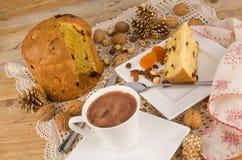 意大利节日糕点酥皮点心用巧克力 库存照片