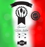意大利菜单海报 免版税图库摄影
