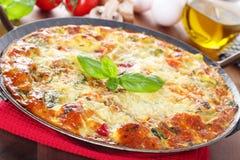 意大利菜肉馅煎蛋饼 免版税库存图片