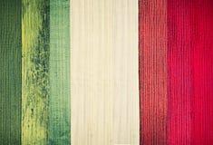 意大利葡萄酒旗子背景 木板条纹理 库存图片