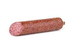 意大利蒜味咸腊肠香肠 图库摄影