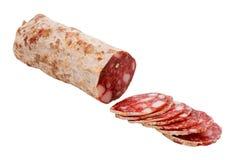 意大利蒜味咸腊肠 免版税库存图片