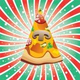 意大利薄饼片式 库存照片