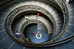 意大利螺旋形楼梯梵蒂冈 库存照片