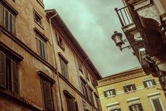 意大利街道和大厦 库存照片