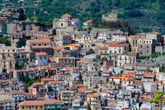 意大利西西里岛村庄 免版税库存照片