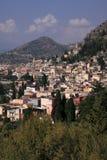 意大利西西里岛taormina垂直 图库摄影