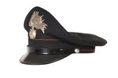 意大利警察帽子,反对 库存照片