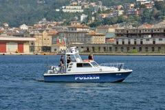 意大利警察快艇 免版税图库摄影