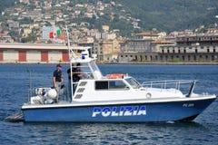 意大利警察快艇 库存照片