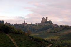 意大利语乡下的小山 图库摄影