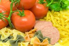 意大利语正餐的成份 库存图片