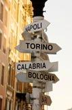 意大利语的城市 免版税图库摄影