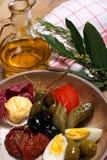 意大利语的开胃小菜 免版税库存照片