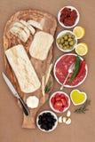意大利语的开胃小菜 免版税库存图片