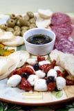 意大利语的开胃小菜 库存图片