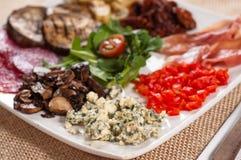 意大利语的开胃菜 免版税库存照片