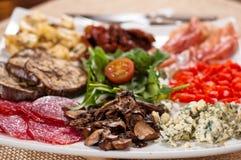 意大利语的开胃菜 库存照片