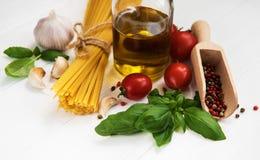 意大利语的食品成分 免版税库存照片
