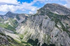 意大利语落矶山- Gran Sasso d'意大利Appennnino Centrale 免版税库存照片