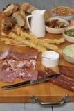 意大利语食物的开胃小菜 免版税图库摄影