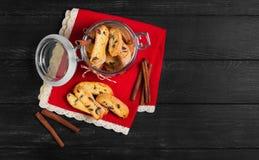 意大利语biscotti的曲奇饼 免版税图库摄影