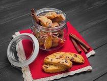 意大利语biscotti的曲奇饼 图库摄影