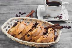 意大利语biscotti的曲奇饼 库存图片