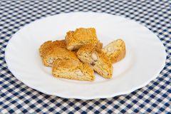 意大利语cantuccini的曲奇饼 图库摄影
