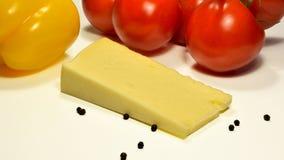 意大利语ckeese的亚细亚哥,地中海美食术 免版税库存照片